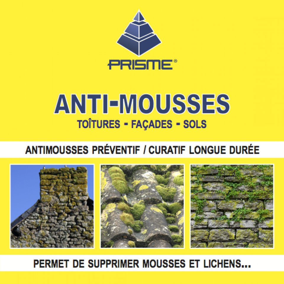 Produit Anti Mousse Terrasse Beton prisme pro - anti-mousses
